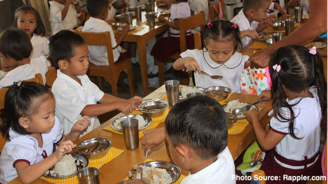 Sen. Bam lauds passage of law for feeding programs in public day care, kinder and elementary schools