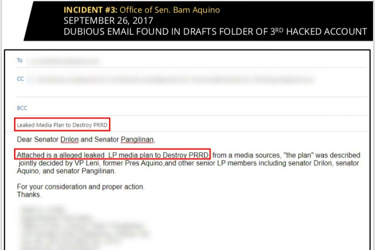 hacked email account Archives - Office of Senator Bam Aquino